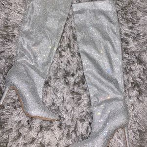 Aldo diamond studded knee high boots.